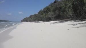 Paradiesische Strände völlig unberührt vom Massentourismus und dazu das wunderbare Panorama Jaco Islands.